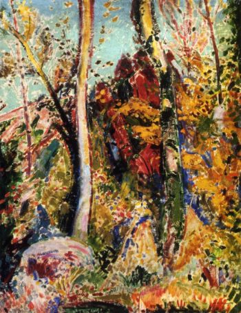 Landscape with Trees 1909 | Alfred Henry Maurer | oil painting