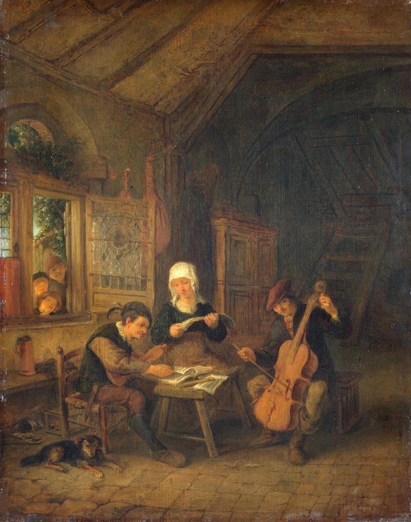 Rural Musicians | Ostade Adriaen van | oil painting