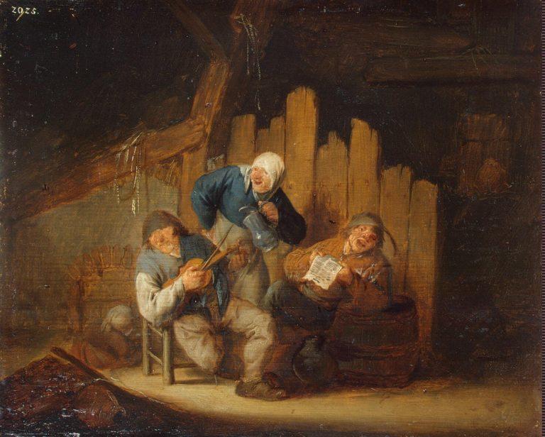 Sense of Hearing | Ostade Adriaen van | oil painting