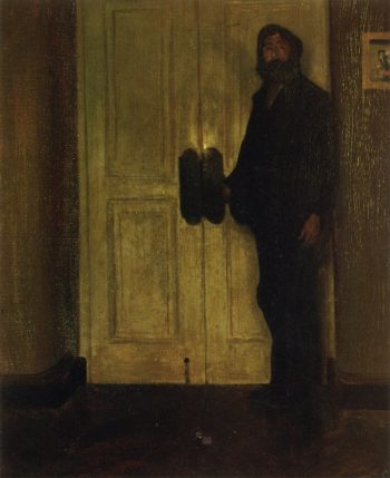 Man at the Door Date unknown | Alfred Henry Maurer | oil painting