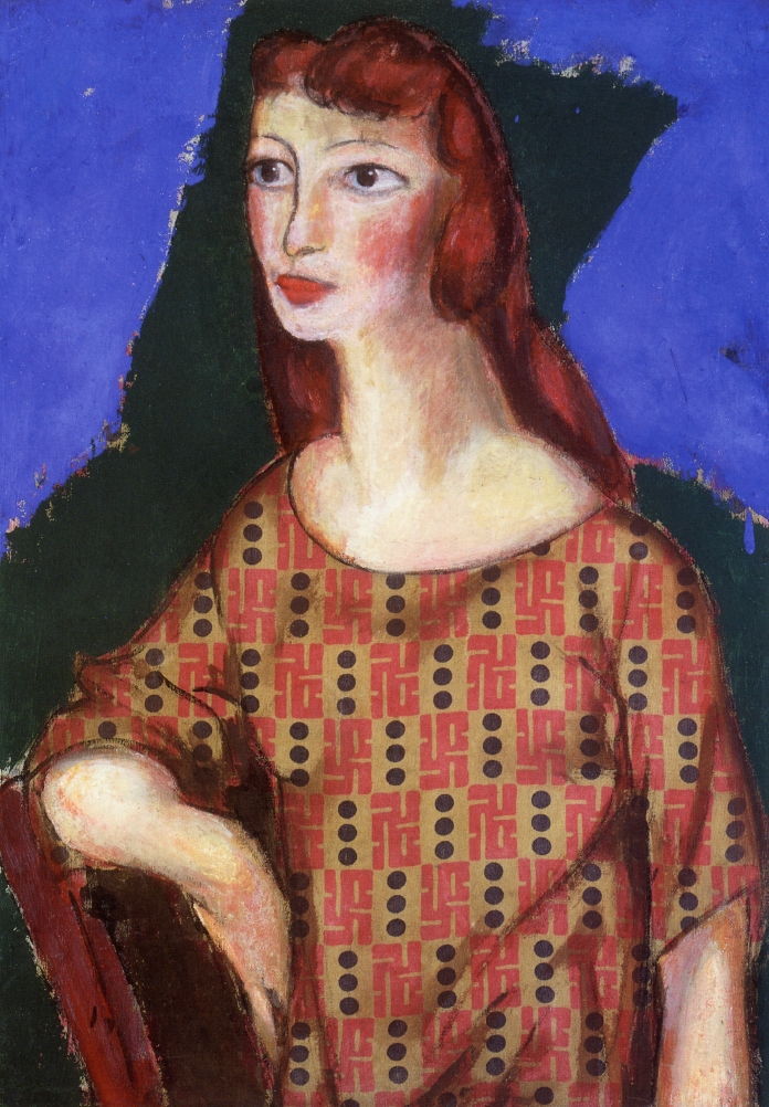 Portrait of a Girl in a Flowered Dress 1924 | Alfred Henry Maurer | oil painting