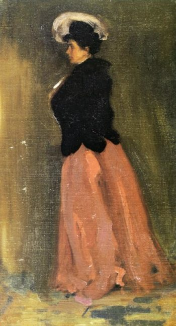 Portrait of Rosalie Fitzpatrick Riz 1902 | Alfred Henry Maurer | oil painting