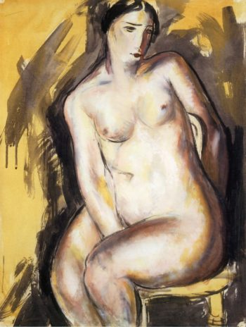 Seated Figure 1927 1928 | Alfred Henry Maurer | oil painting