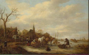 Winter Scene   Ostade Isaak van   oil painting