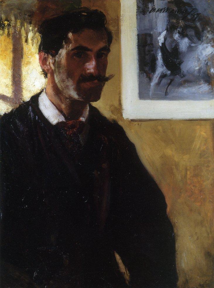 Self Portrait 1896 1897 | Alfred Henry Maurer | oil painting
