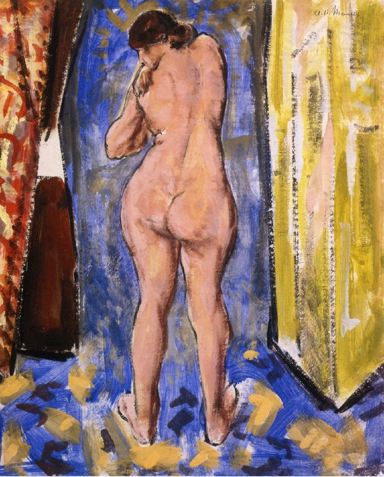 Standing Female Nude 1927 1928 | Alfred Henry Maurer | oil painting