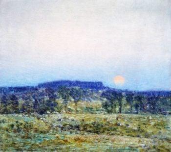 September Moonrise | Frederick Childe Hassam | oil painting