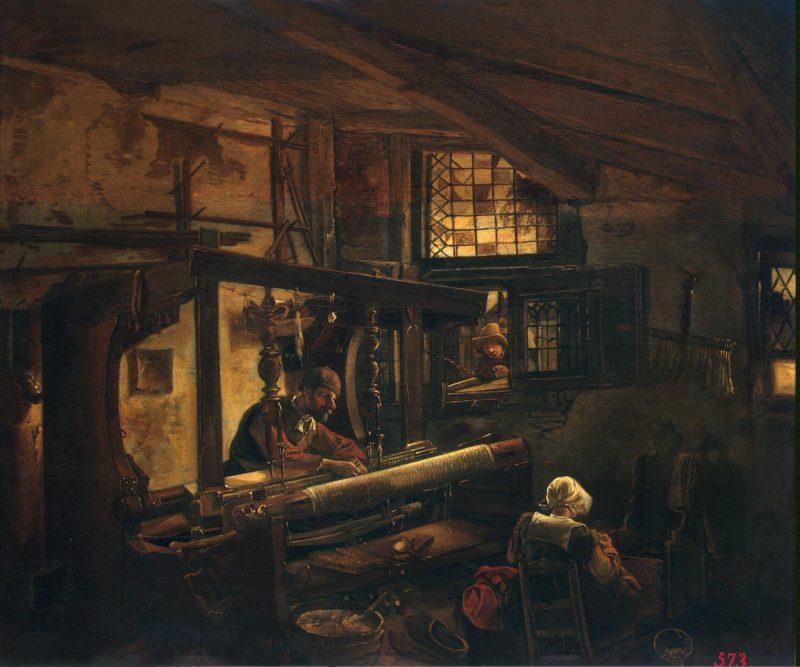 Weaver   Oudenrogge Johannes Dircksz   oil painting