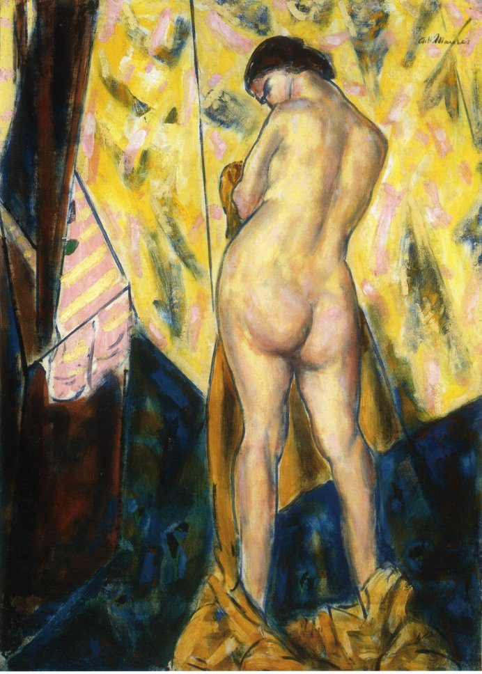 Standing Female Nude 1928 | Alfred Henry Maurer | oil painting