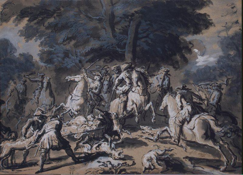 Boar Hunt | Oudry Jean-Baptiste | oil painting
