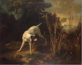 Dog Pointing a Partridge | Oudry Jean-Baptiste | oil painting