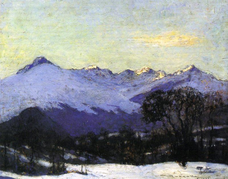 Catena dei monti Biellesi   Giuseppe Bozzalla   oil painting