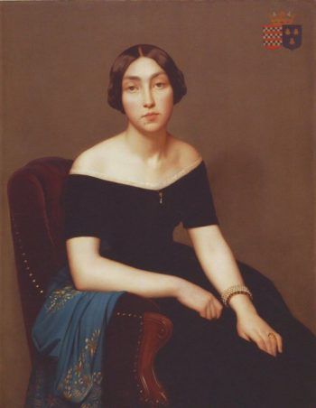 Madame Louis Antoine de Cambourg | Jean Hippolyte Flandrin | oil painting