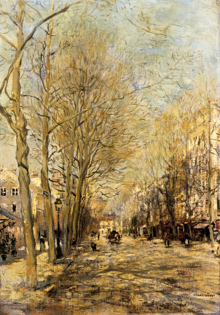 A Boulevard   Jean Francois Raffaelli   oil painting