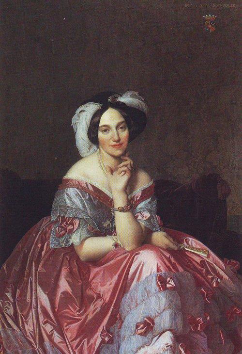 Baronne James de Rothschild-nee Betty von Rothschild | Jean-Auguste-Dominique Ingres | oil painting