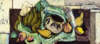 Still Life with Pears and Indian Bowl 1928-1930 | Alfred Henry Maurer | oil painting
