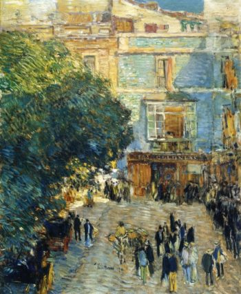 Square at Sevilla | Frederick Childe Hassam | oil painting