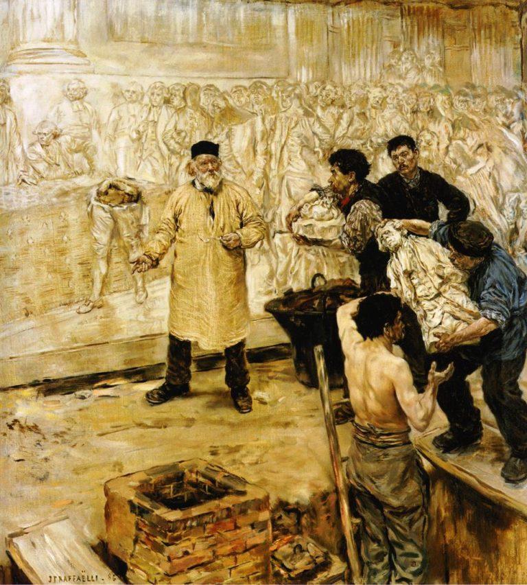 BAt the Foundry | Jean Francois Raffaelli | oil painting