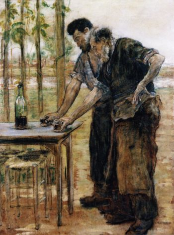 Blacksmiths taking a Drink | Jean Francois Raffaelli | oil painting