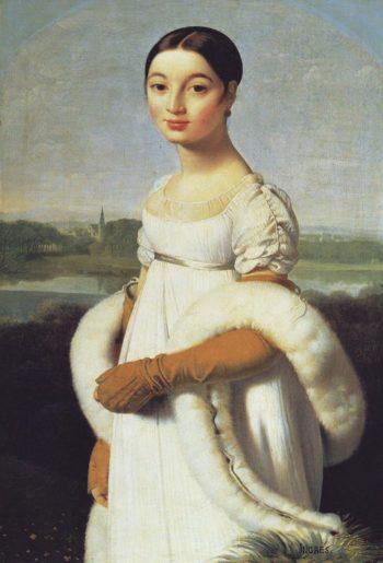 Mademoiselle Caroline Riviere   Jean-Auguste-Dominique Ingres   oil painting