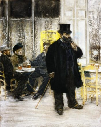 Bohemians at the Cafe | Jean Francois Raffaelli | oil painting