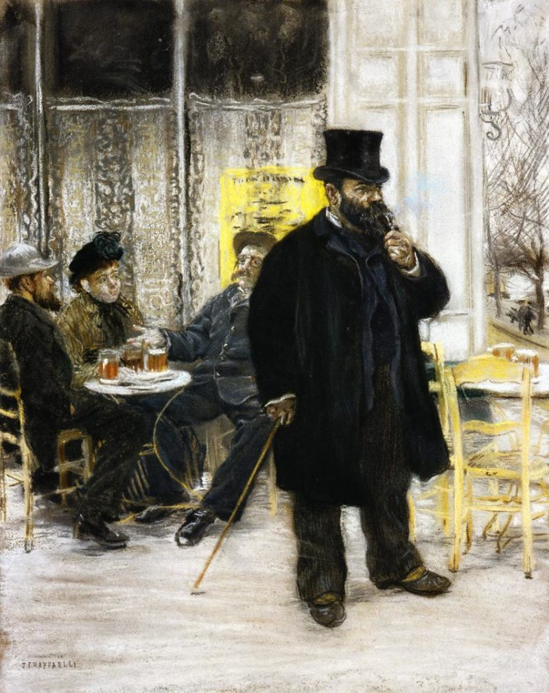 Bohemians at the Cafe   Jean Francois Raffaelli   oil painting