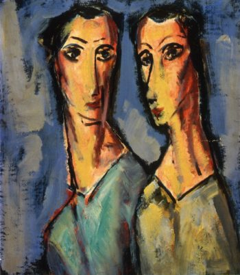 Two Heads 1928-1929 | Alfred Henry Maurer | oil painting