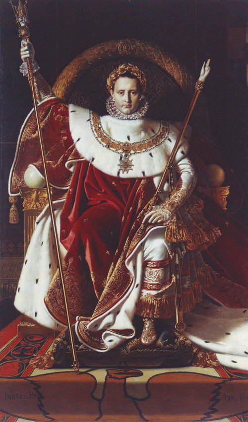 Napoleon I on his imperial throne | Jean-Auguste-Dominique Ingres | oil painting