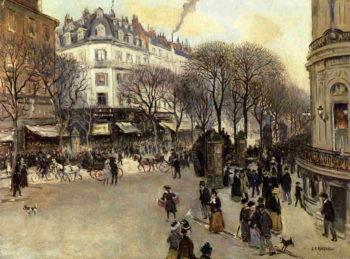 Boulevard des Italiens | Jean Francois Raffaelli | oil painting
