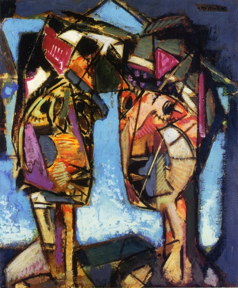 Two Heads 1930 | Alfred Henry Maurer | oil painting