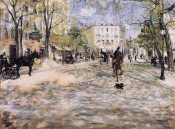 Boulevard in Paris | Jean Francois Raffaelli | oil painting