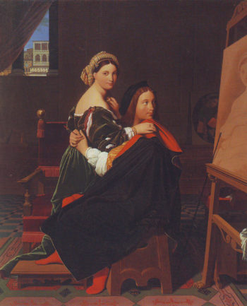 Raphael and the Fornarina1   Jean-Auguste-Dominique Ingres   oil painting
