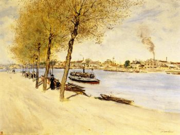 By the Water in Springtime | Jean Francois Raffaelli | oil painting