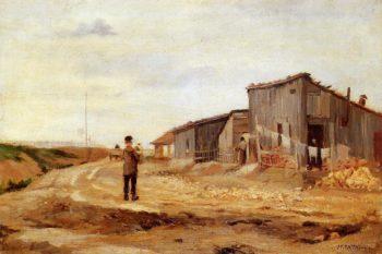 Figures in a Landscape | Jean Francois Raffaelli | oil painting