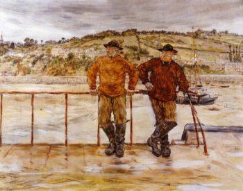 Fishermen at Jersey | Jean Francois Raffaelli | oil painting