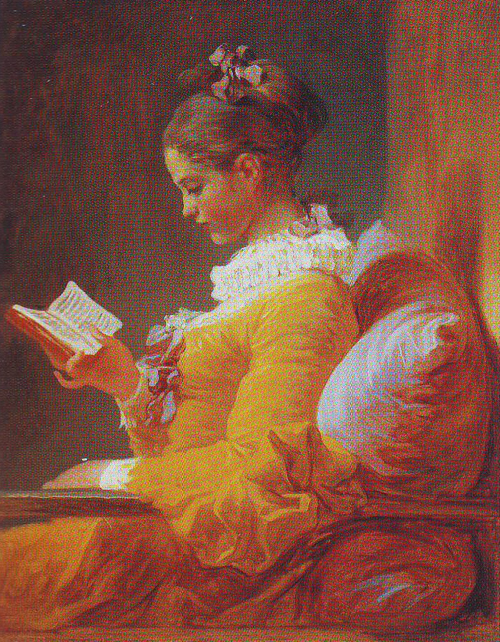 A young girl reading | Jean-Honore Fragonard | oil painting