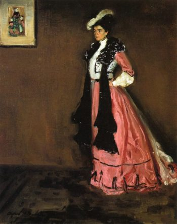Woman in Pink Portrait of Roselle Fitzpatrick 1902 | Alfred Henry Maurer | oil painting