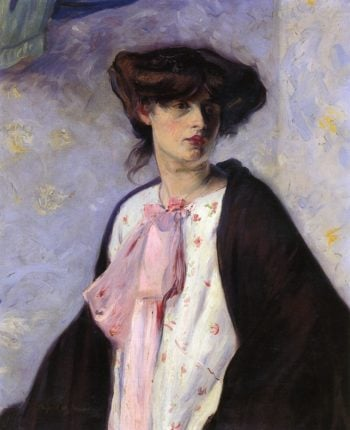 Woman with a Pink Bow Date unknown | Alfred Henry Maurer | oil painting