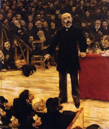 Georges Clemenceau Giving a Speech at the Cirque Fernando | Jean Francois Raffaelli | oil painting