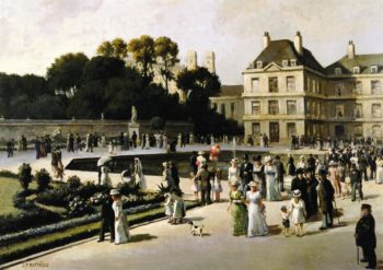 Jardin du Luxembourg | Jean Francois Raffaelli | oil painting
