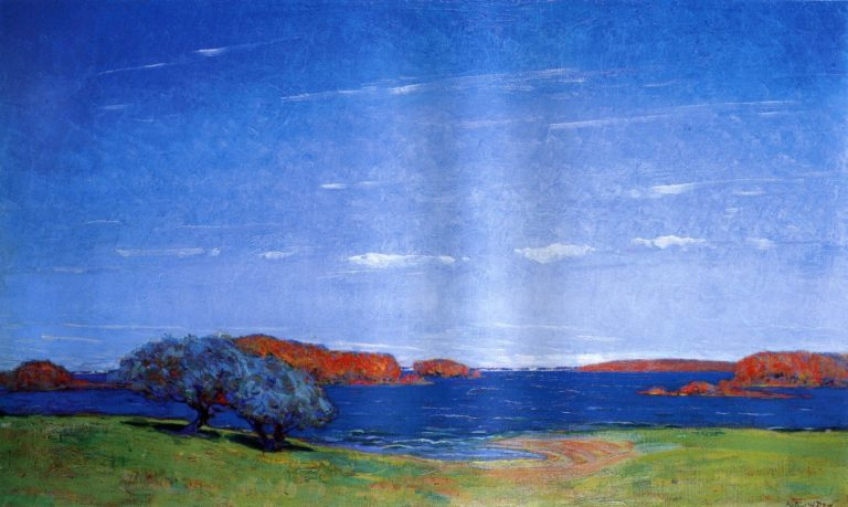A Bright Sky with a Breeze 1910 | Arthur Wesley Dow | oil painting