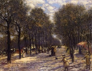Lane of Trees on the Champs Elysees | Jean Francois Raffaelli | oil painting
