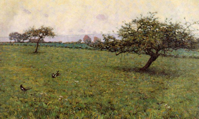 A Field Kerlaouen 1887 | Arthur Wesley Dow | oil painting