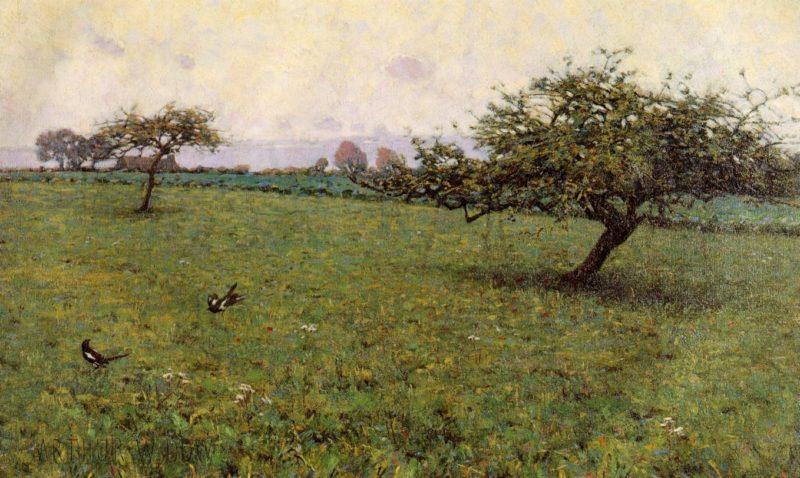 A Field Kerlaouen 1887   Arthur Wesley Dow   oil painting