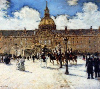 Les Invalides Napoleons Tomb | Jean Francois Raffaelli | oil painting