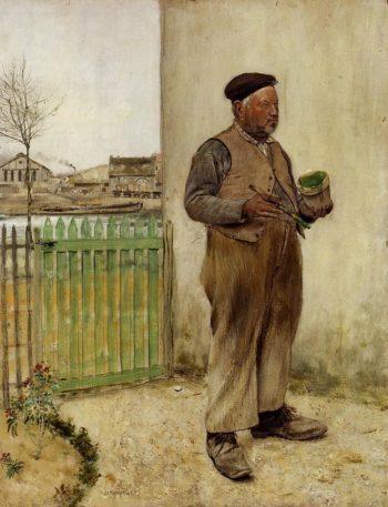 Man Having Just Painted His Fence | Jean Francois Raffaelli | oil painting