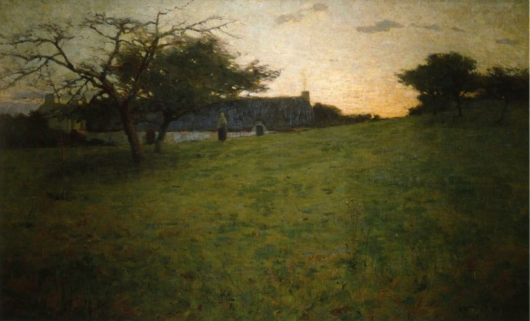 At Evening 1888 | Arthur Wesley Dow | oil painting