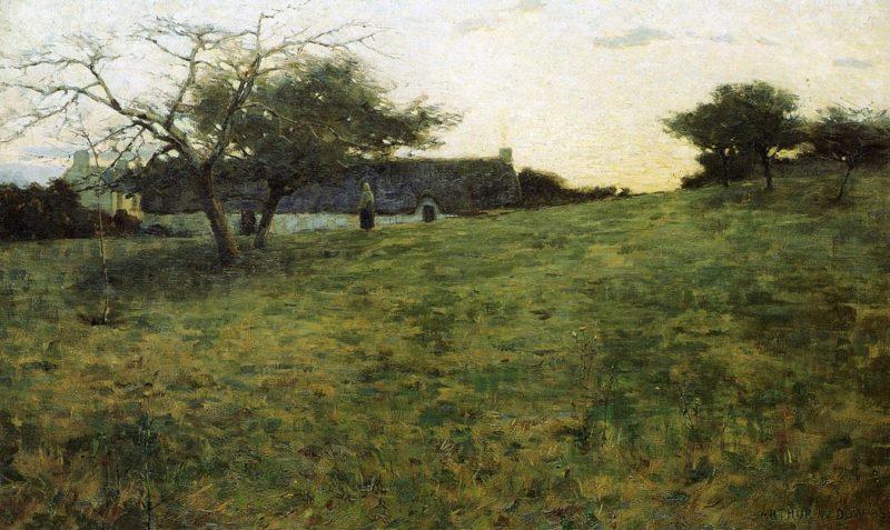 Au Soir 1889 | Arthur Wesley Dow | oil painting