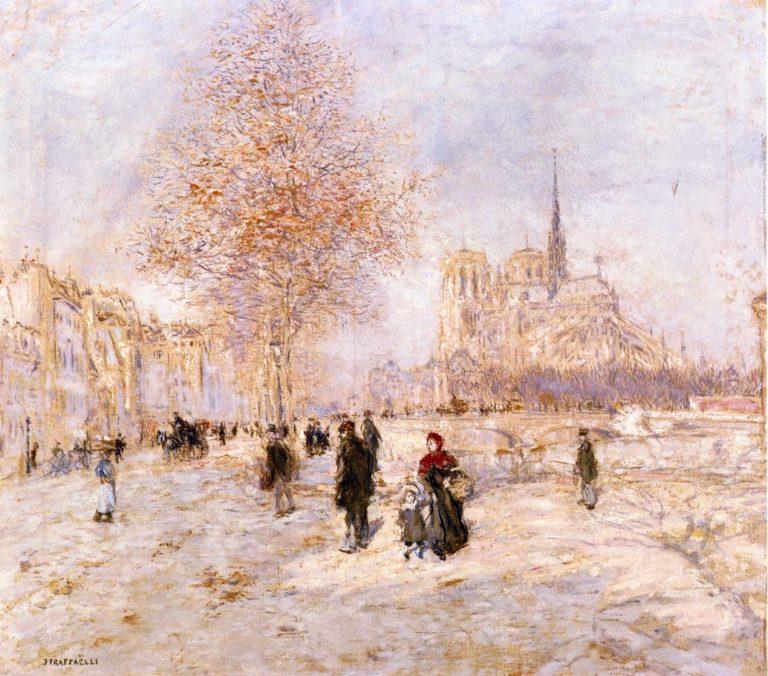 Notre Dame de Paris   Jean Francois Raffaelli   oil painting