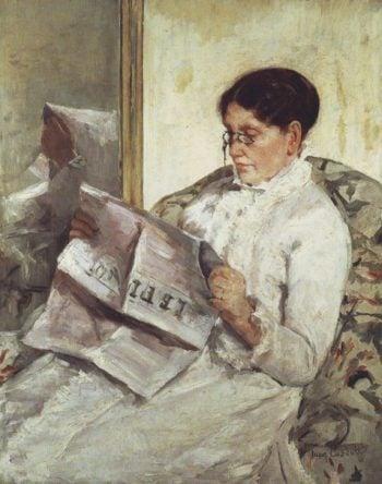Portrait of a lady- | Mary Cassatt | oil painting